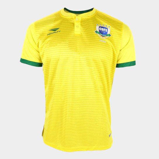 Camisa Seleção Brasil Futsal I 20/21 s/n° Torcedor Penalty Masculina - Amarelo+Verde