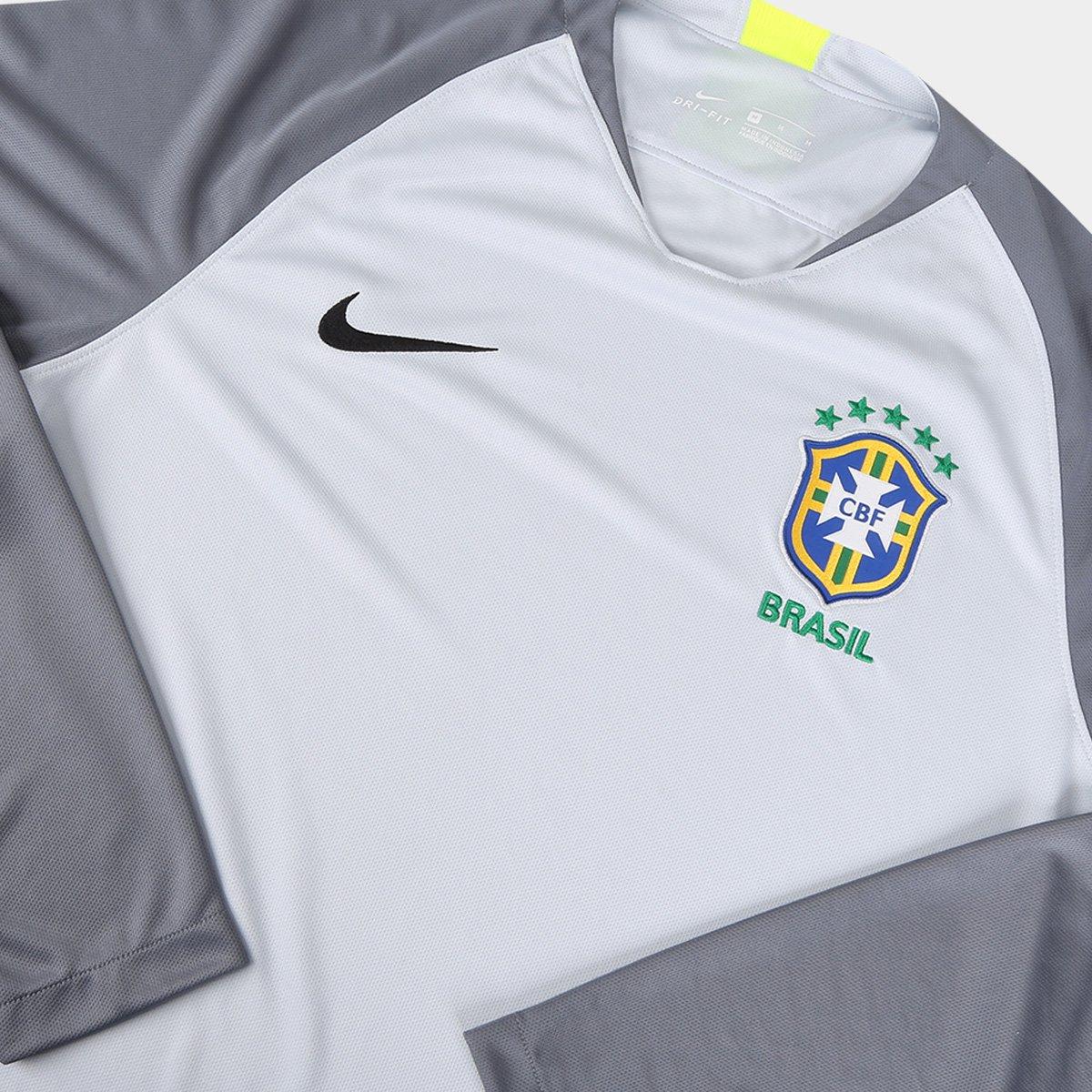 ... Camisa Seleção Brasil Goleiro 2018 nº 23 Ederson M. - Torcedor Nike  Masculina 7b8b0a9705e70