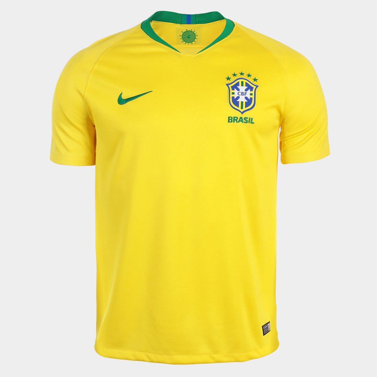 f22658c157 ... Camisa Seleção Brasil I 2018 nº 12 Marcelo - Torcedor Nike Masculina ...