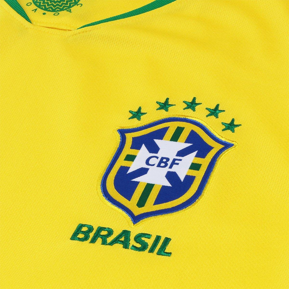 ... Camisa Seleção Brasil I 2018 nº 12 Marcelo - Torcedor Nike Masculina ... 79675cde11ef6