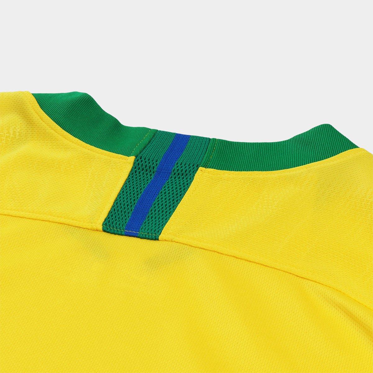 40e2de9e48 ... Camisa Seleção Brasil I 2018 nº 12 Marcelo - Torcedor Nike Masculina ...