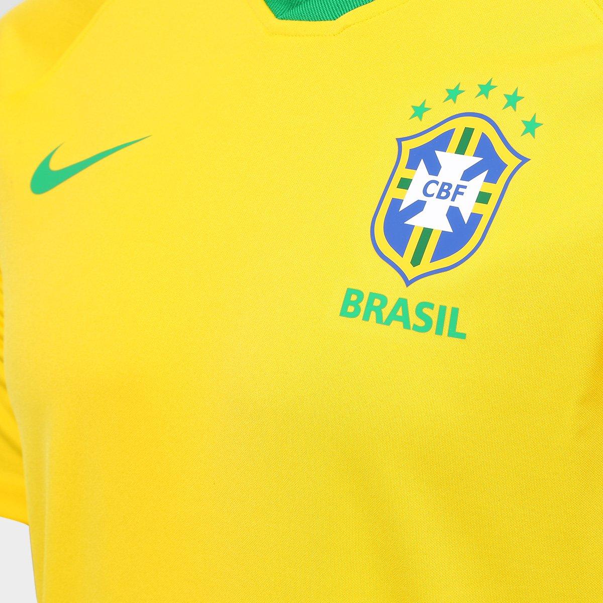 ... Camisa Seleção Brasil I 2018 s n° - Torcedor Estádio Nike Masculina ... 883ccd75e0da1