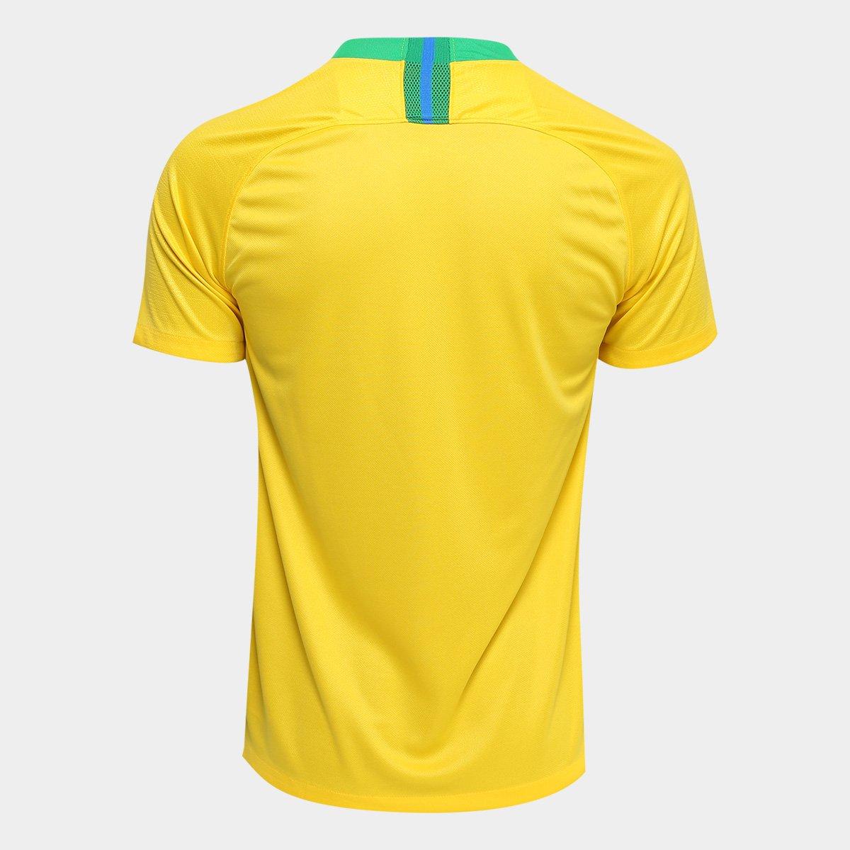 1ebec6833f ... Camisa Seleção Brasil I 2018 s n° - Torcedor Nike Masculina ...