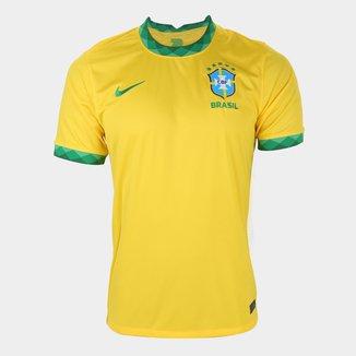 Camisa Seleção Brasil I 20/21 s/n° Torcedor Nike Masculina