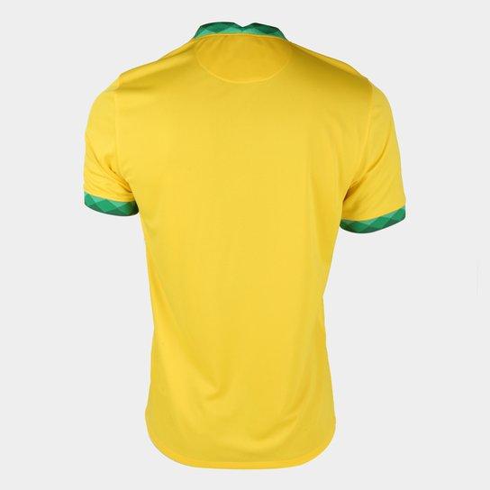 Camisa Seleção Brasil I 20/21 s/n° Torcedor Nike Masculina - Amarelo+Verde
