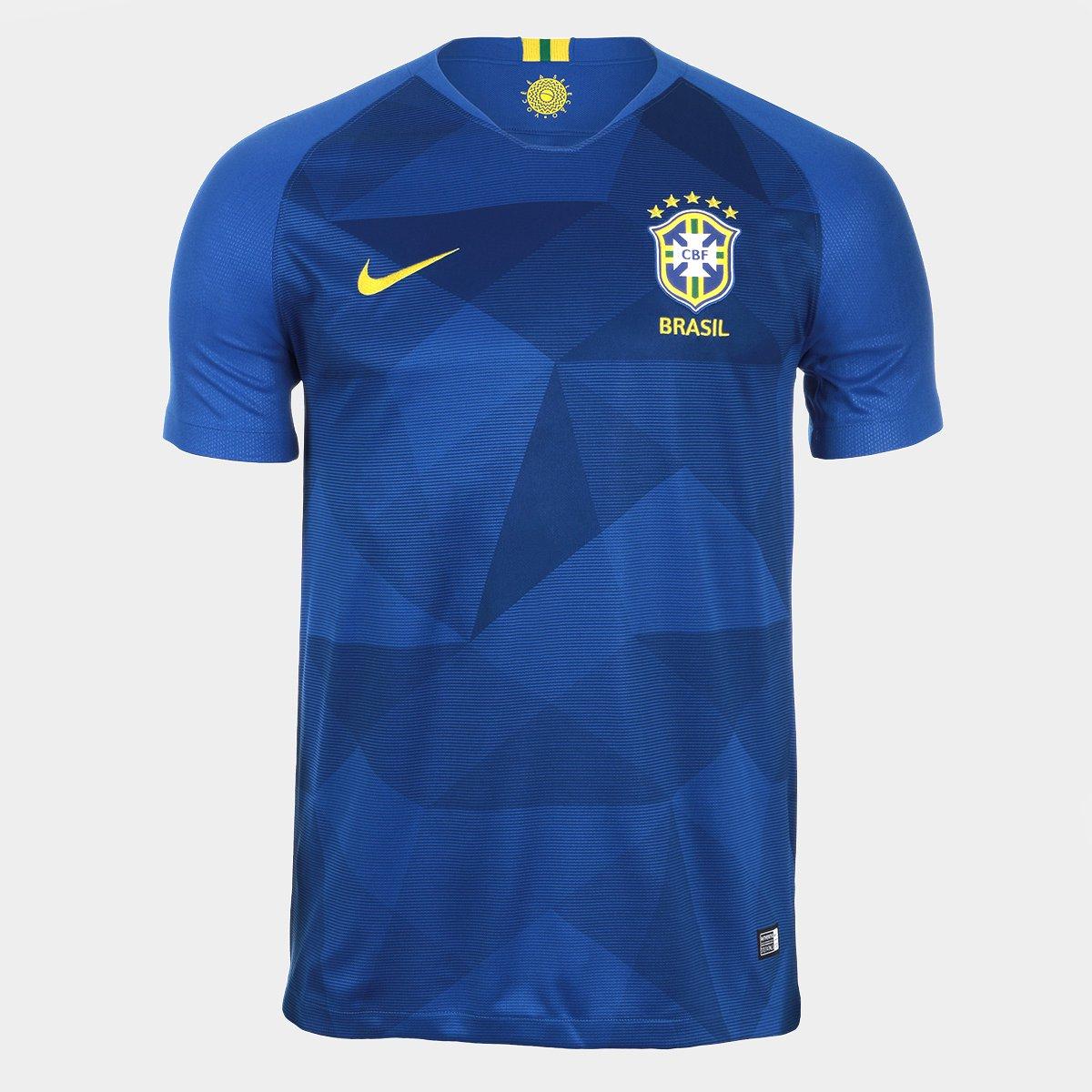 ... Camisa Seleção Brasil II 2018 nº 10 Neymar Jr - Torcedor Nike Masculina  ... 53812b318c68b
