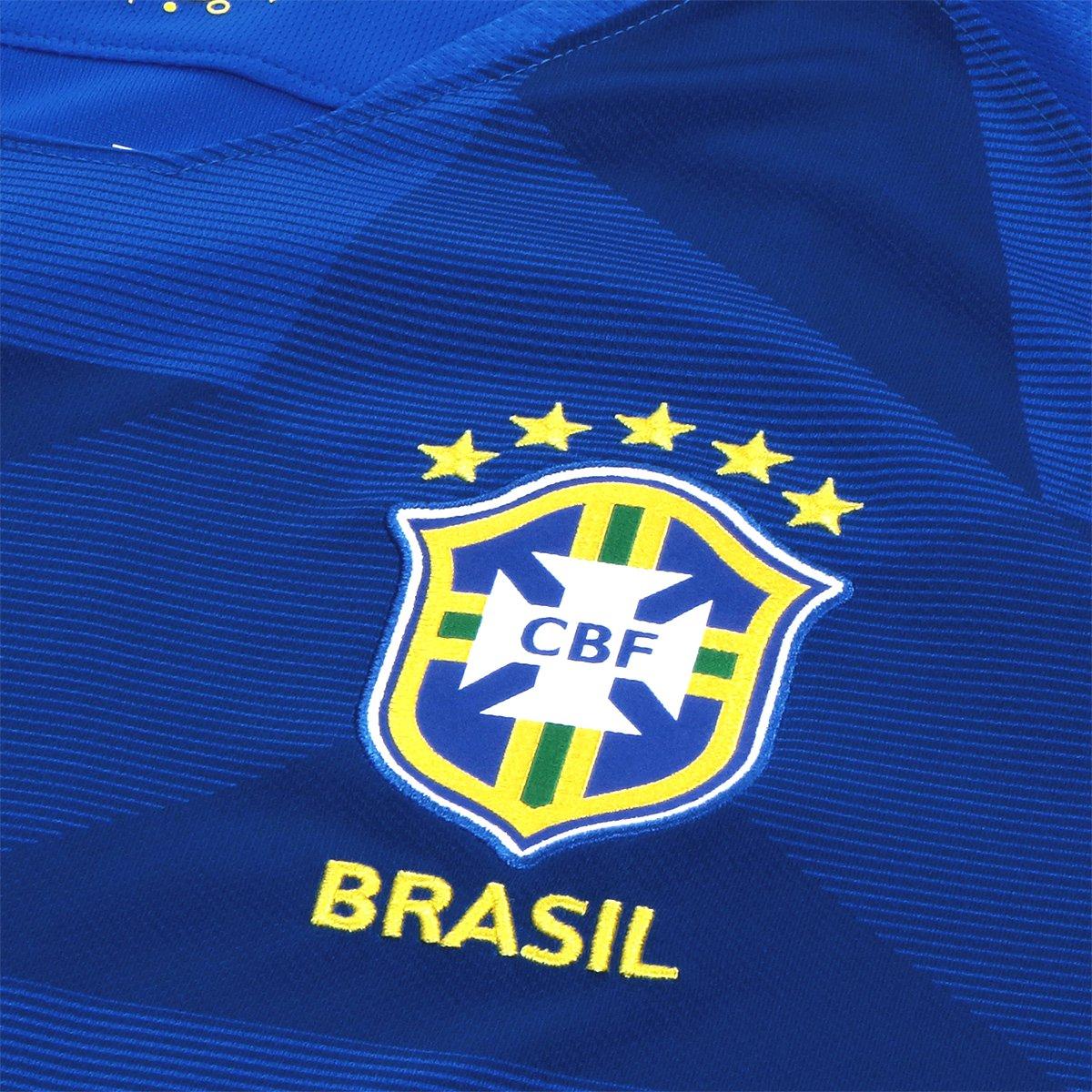 16730140ab ... Camisa Seleção Brasil II 2018 nº 12 Marcelo - Torcedor Nike Masculina  ...