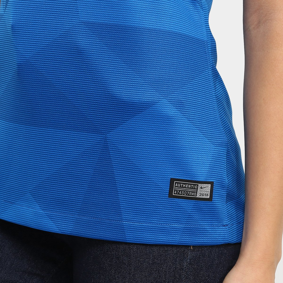 d39692438d Camisa Seleção Brasil II 2018 s n° - Torcedor Nike Feminina - Azul ...