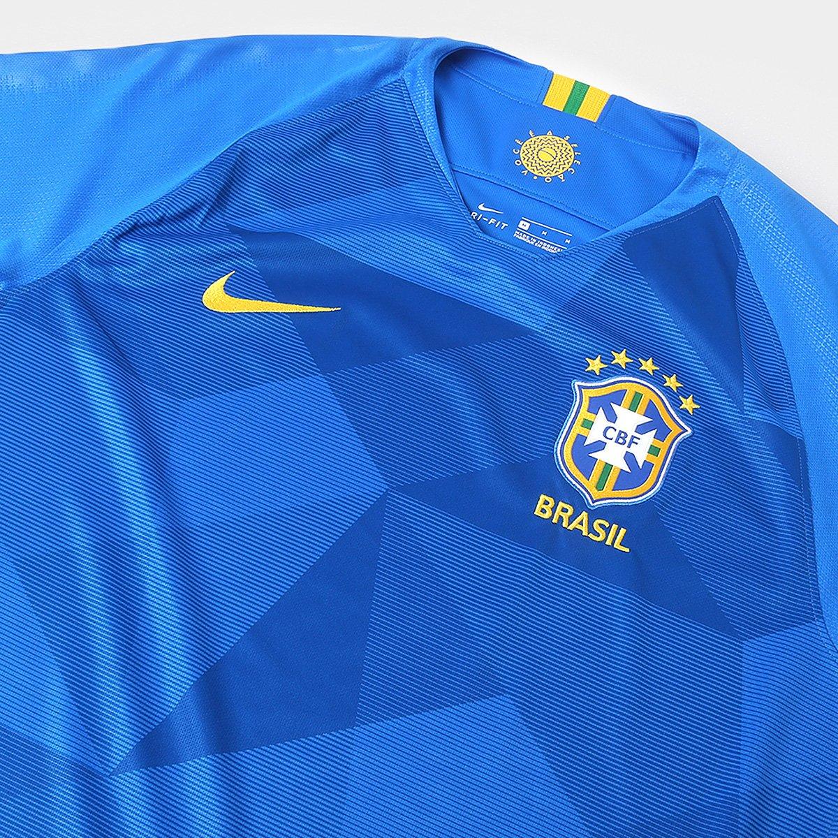 b882ee215e ... Camisa Seleção Brasil II 2018 s n° - Torcedor Nike Masculina ...