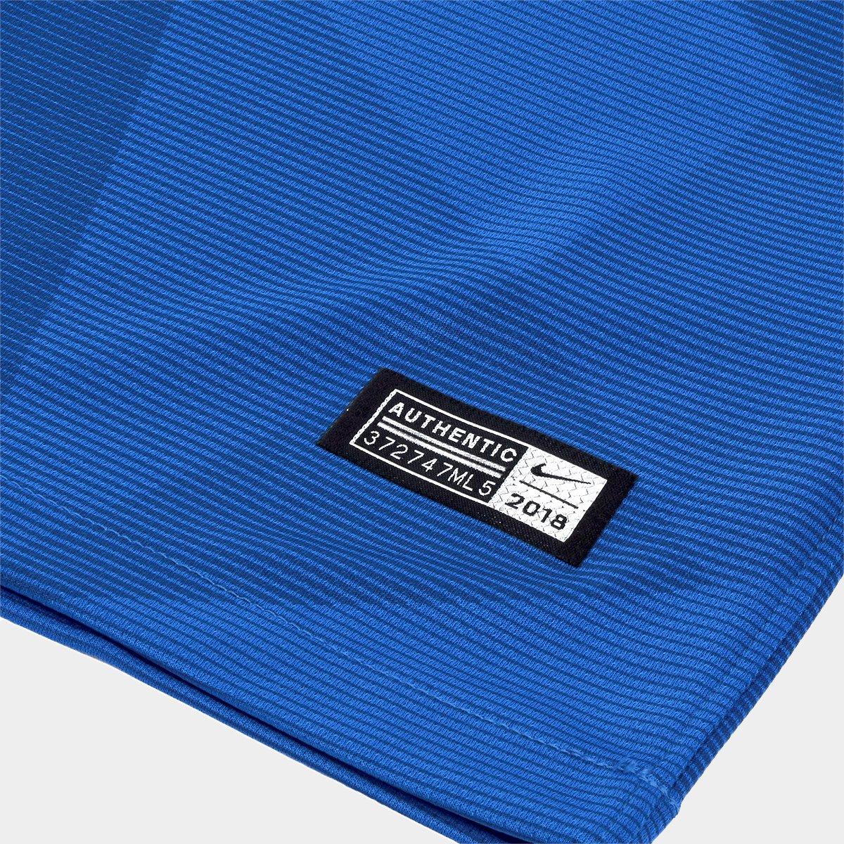 Camisa Selecao Brasil Ii 2018 S N Torcedor Nike Masculina Azul Netshoes
