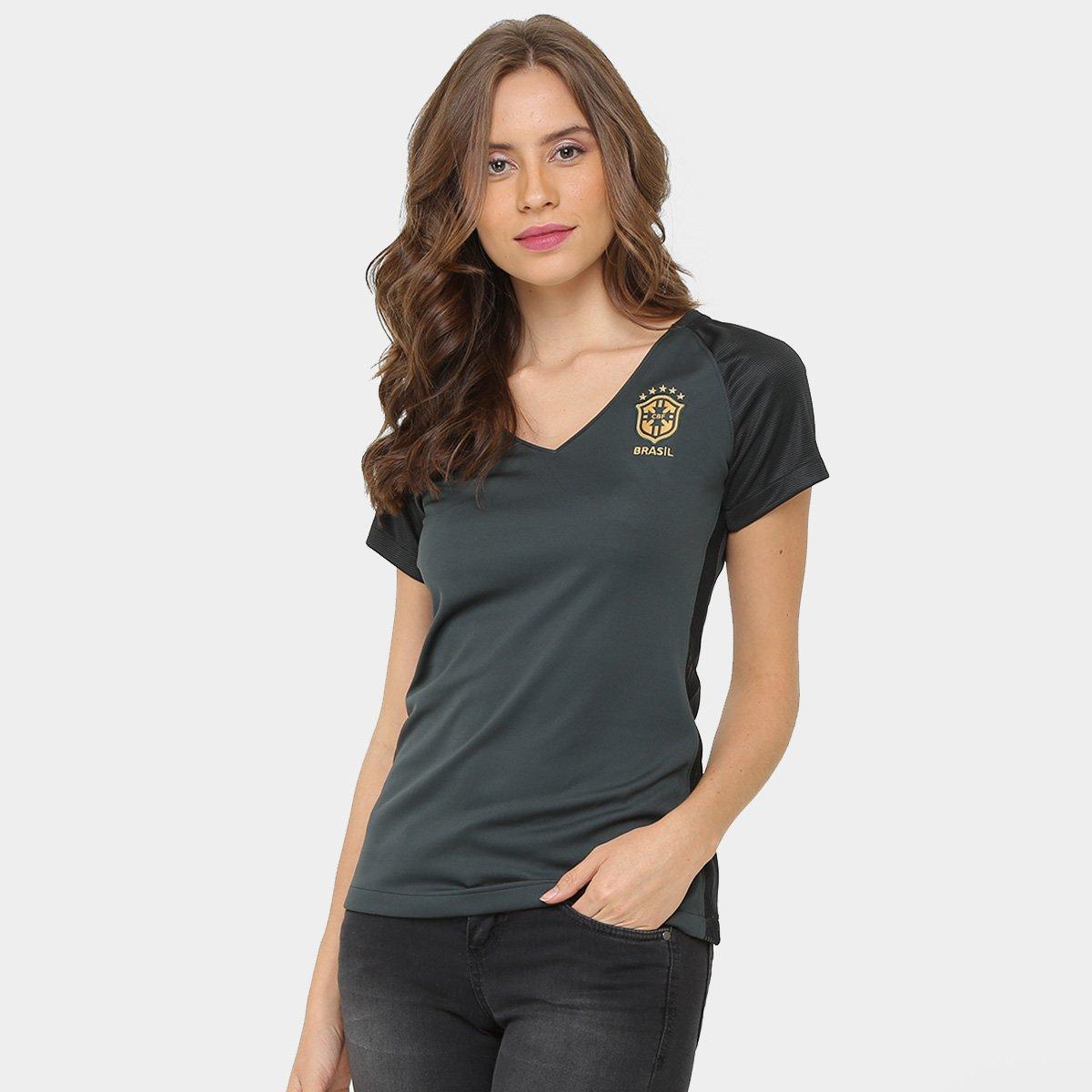 81ba7f225db51 Camisa Seleção Brasil III 17 18 s nº Torcedor Nike Feminina - Compre Agora