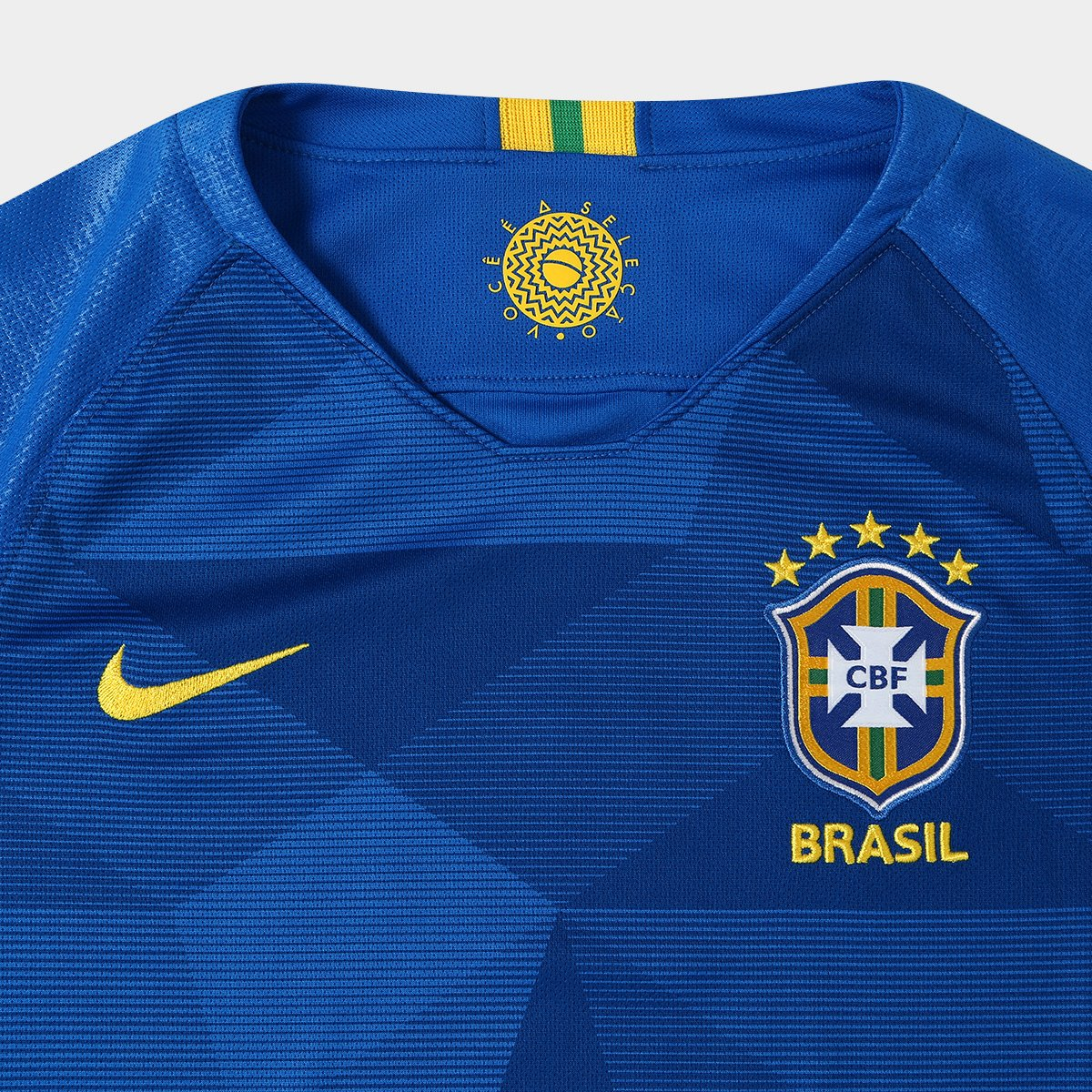 dc6983615f ... Nike Seleção Torcedor II Neymar Jr 2018 nº Camisa Azul Brasil Juvenil  10 ZgwxUgvTq ...