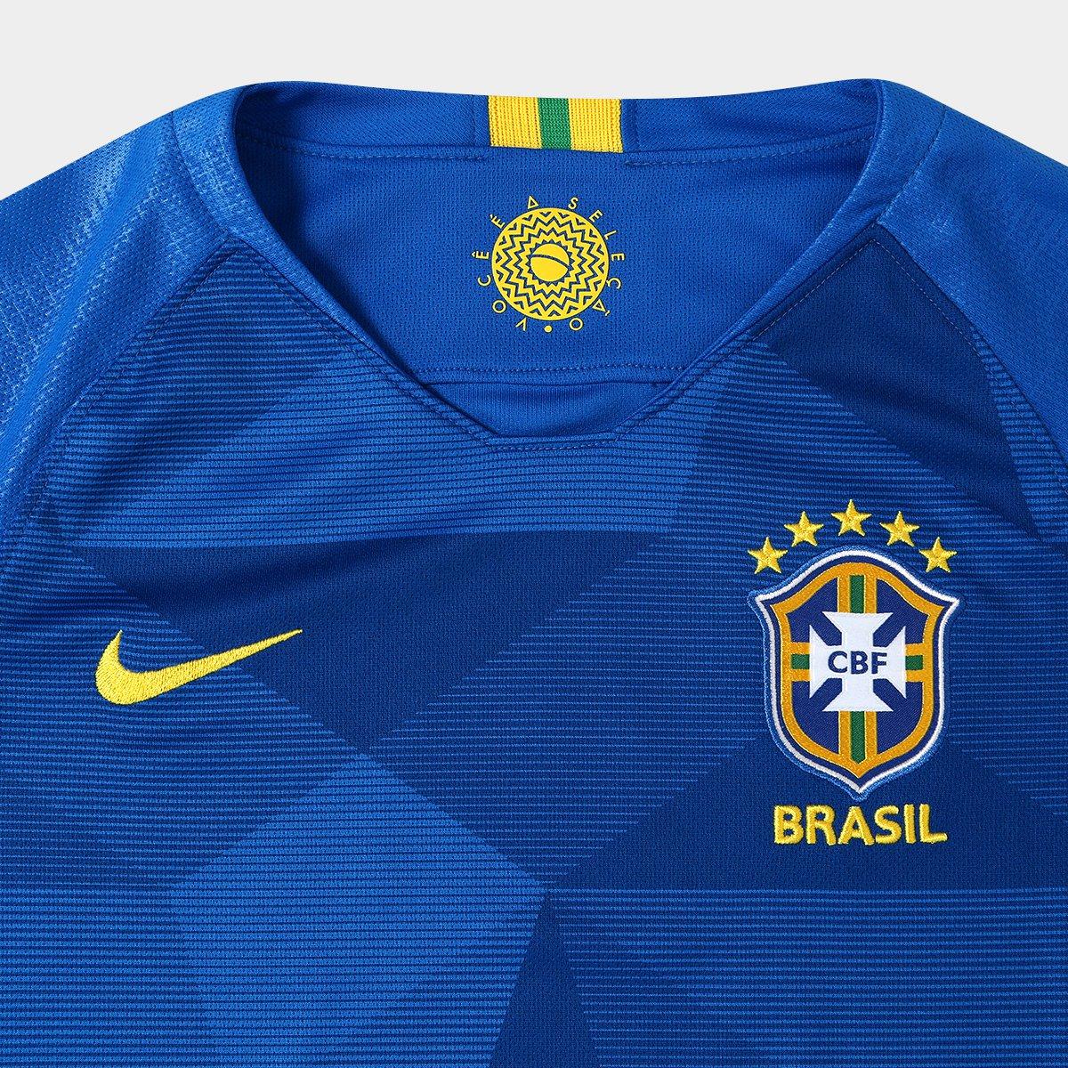 Camisa Seleção Brasil Juvenil II 2018 s n° - Torcedor Nike - Compre ... 3c6ee2634a806