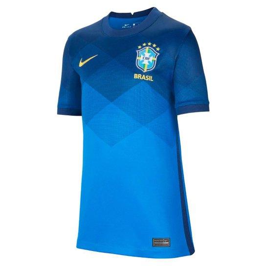 Camisa Seleção Brasil Juvenil II 20/21 s/n° Torcedor Nike - Azul+amarelo