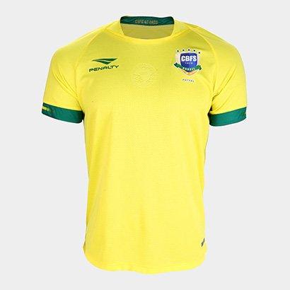 Camisa Selecao Brasileira Futsal I 2019 s/nº Torcedor Penalty Masculina