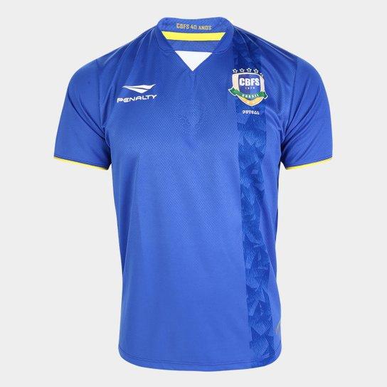 Camisa Seleção Brasileira Futsal II 2019 s/nº Torcedor Penalty Masculina - Azul Claro