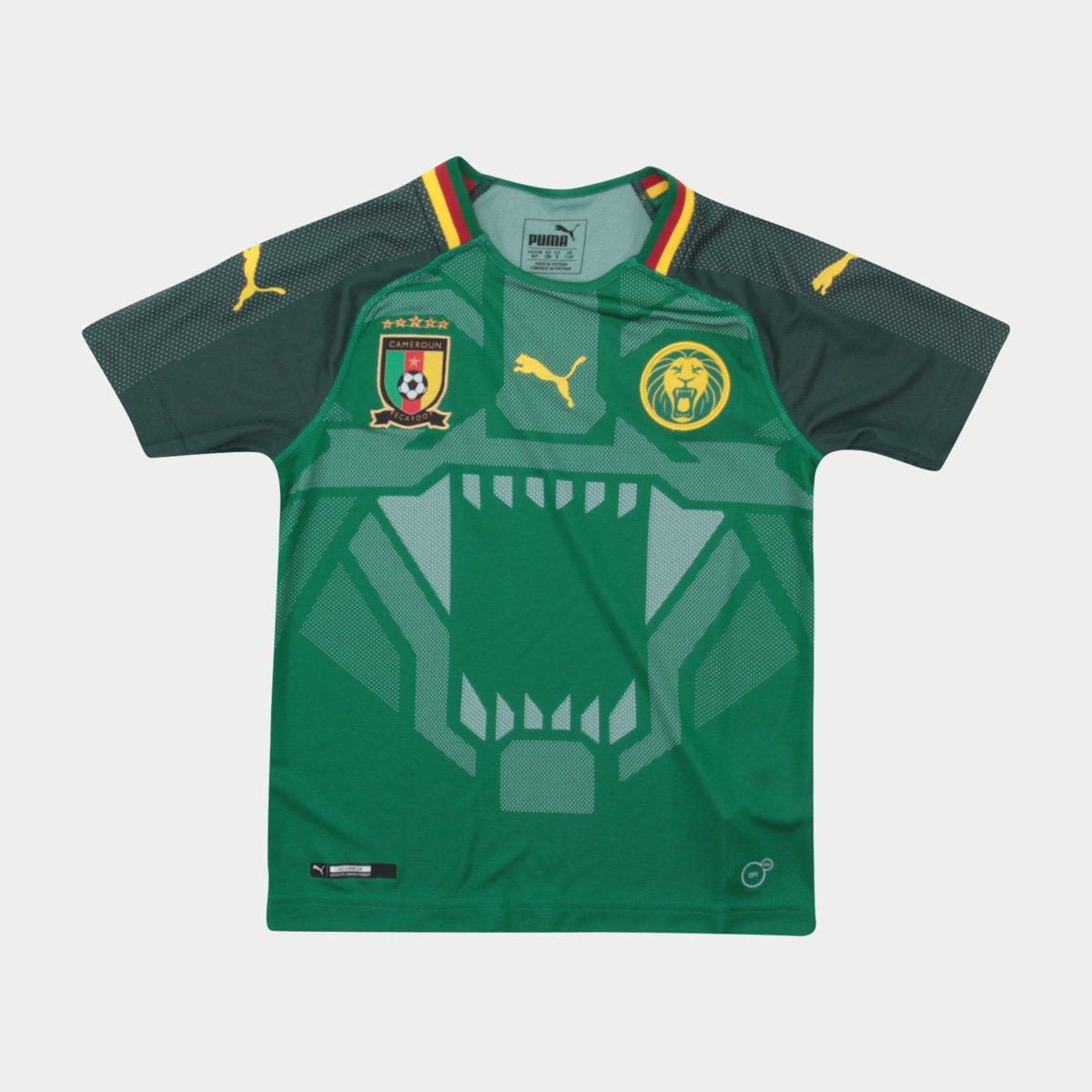 Camisa Seleção Camarões Infantil Home 2018 s n° - Torcedor Puma - Compre  Agora  a73bfdaf480ce