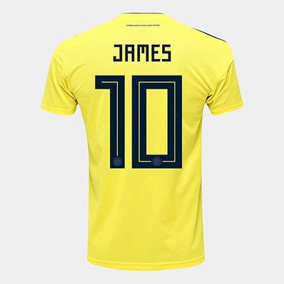 Camisa Seleção Colômbia Home 2018 N° 10 James - Torcedor Adidas Masculina dbefecf5a313c