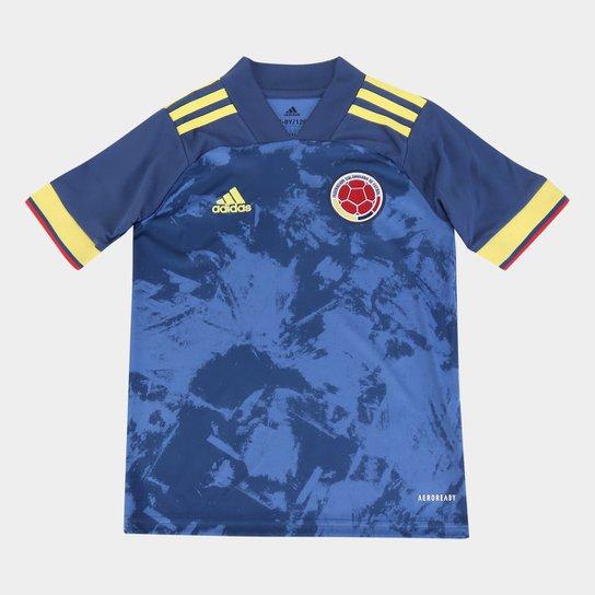 Camisa Seleção Colômbia Infantil Away 20/21 s/n° Adidas - Marinho