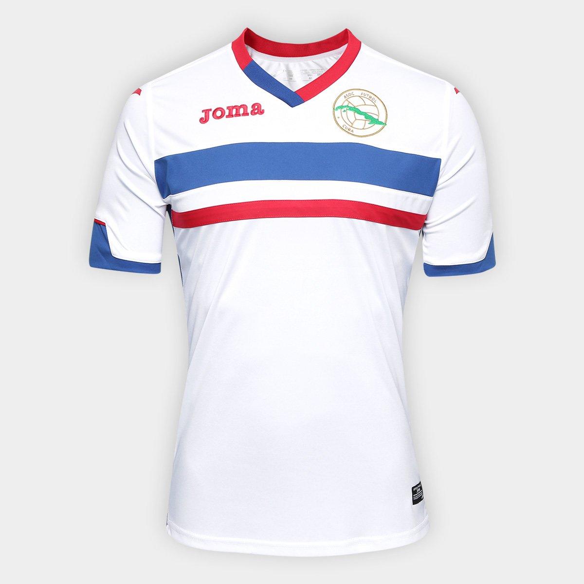 Camisa Seleção Cuba Home 2017 s nº Torcedor Joma Masculina - Compre Agora  f6efa7f535a6a