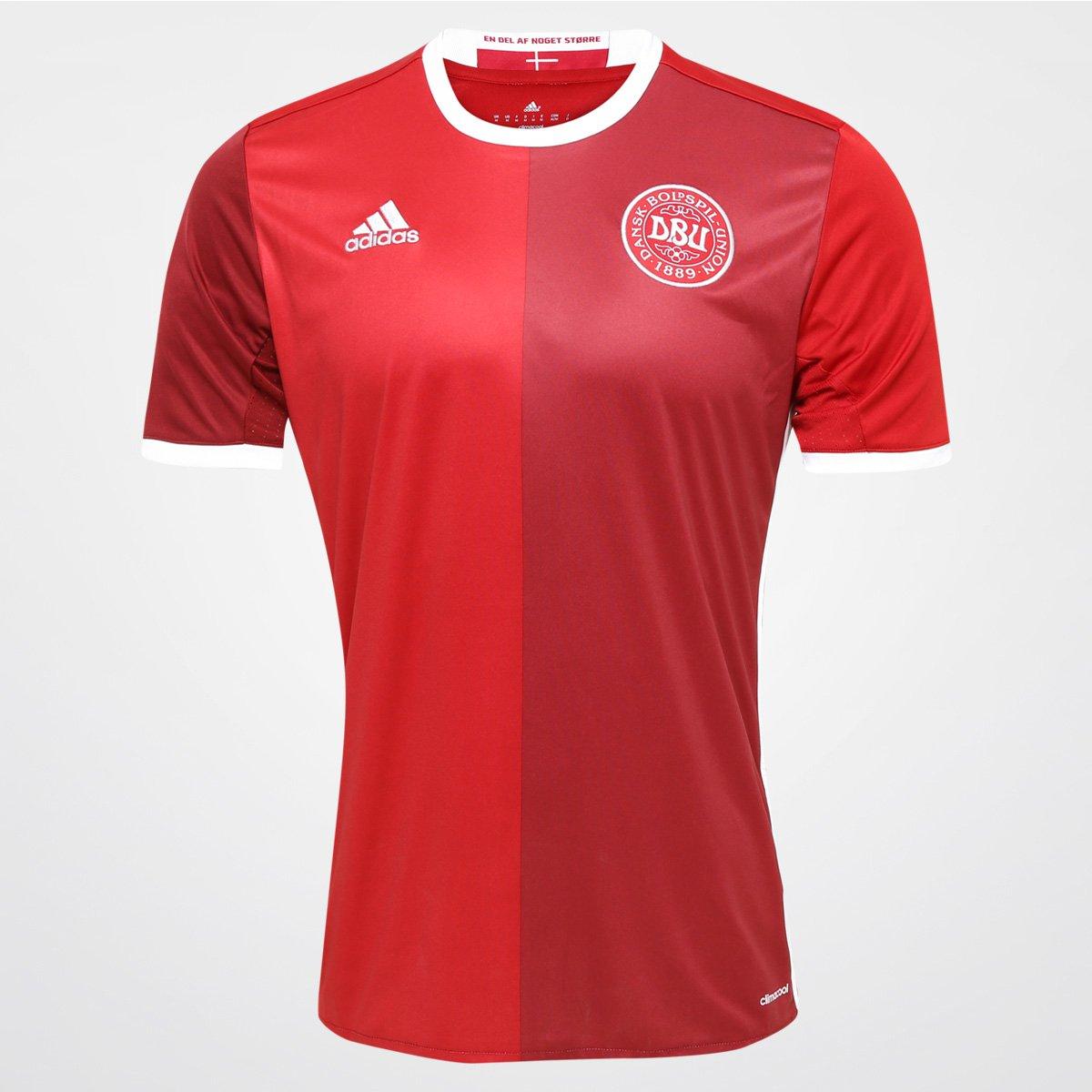 b19e0a0387 Camisa Seleção Dinamarca Home 2016 s n° Torcedor Adidas Masculina - Compre  Agora