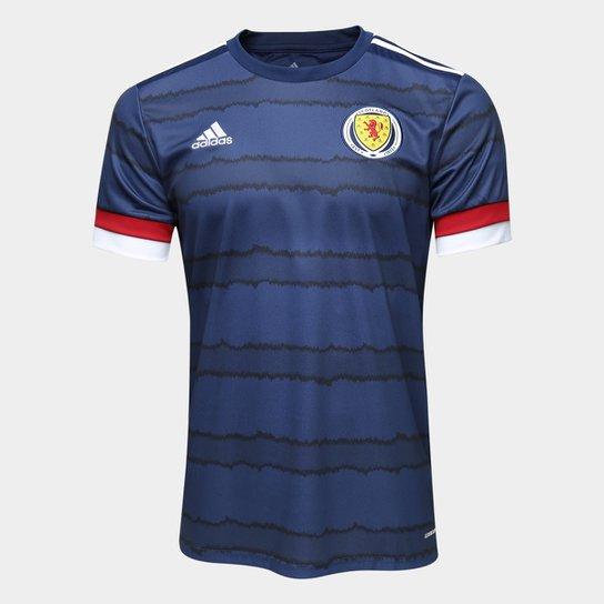 Camisa Seleção Escócia Home 20/21 s/n° Torcedor Adidas Masculina - Marinho