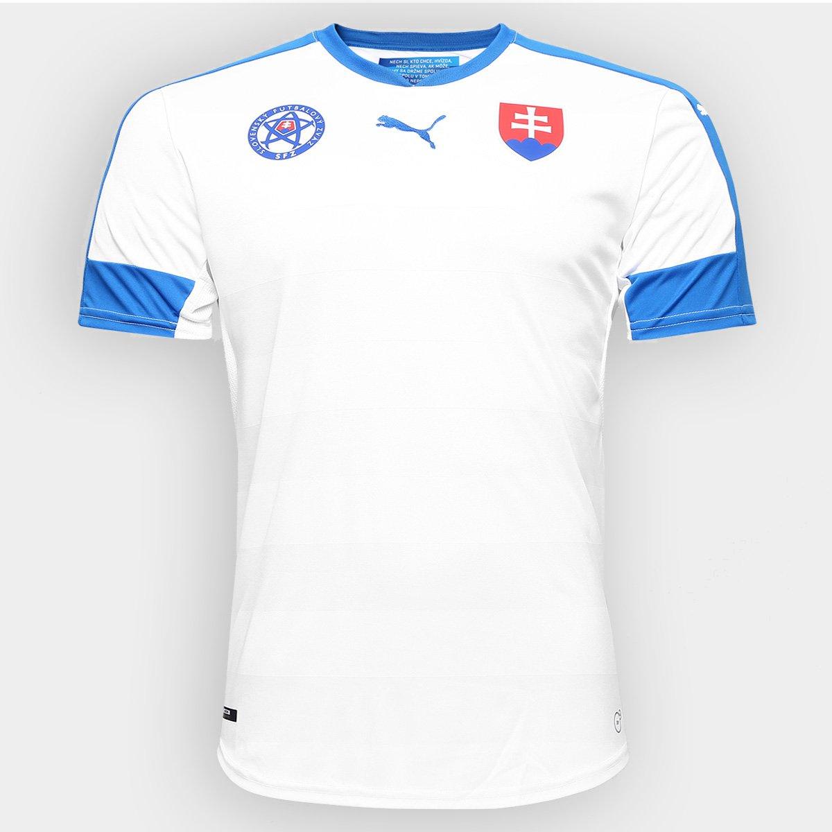 83ec75c6ca3e3 Camisa Seleção Eslováquia Home 2016 s nº - Torcedor Puma Masculina - Compre  Agora