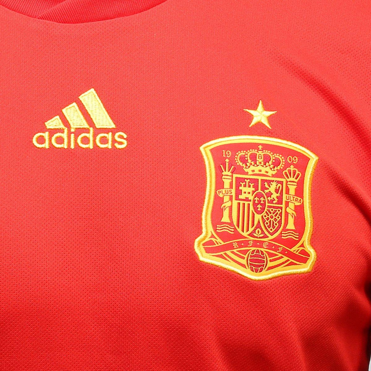 02ac7af7ab ... Camisa Seleção Espanha Away 2018 n° 8 Koke - Torcedor Adidas Masculina  ...