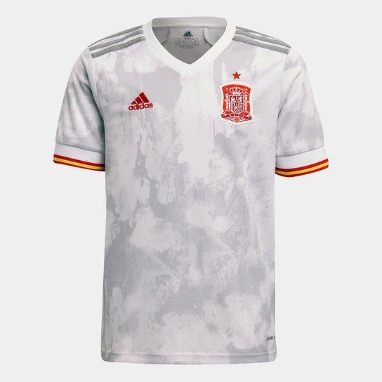 Camisa Seleção Espanha Away Home 20/21 s/nº Torcedor Adidas - Branco