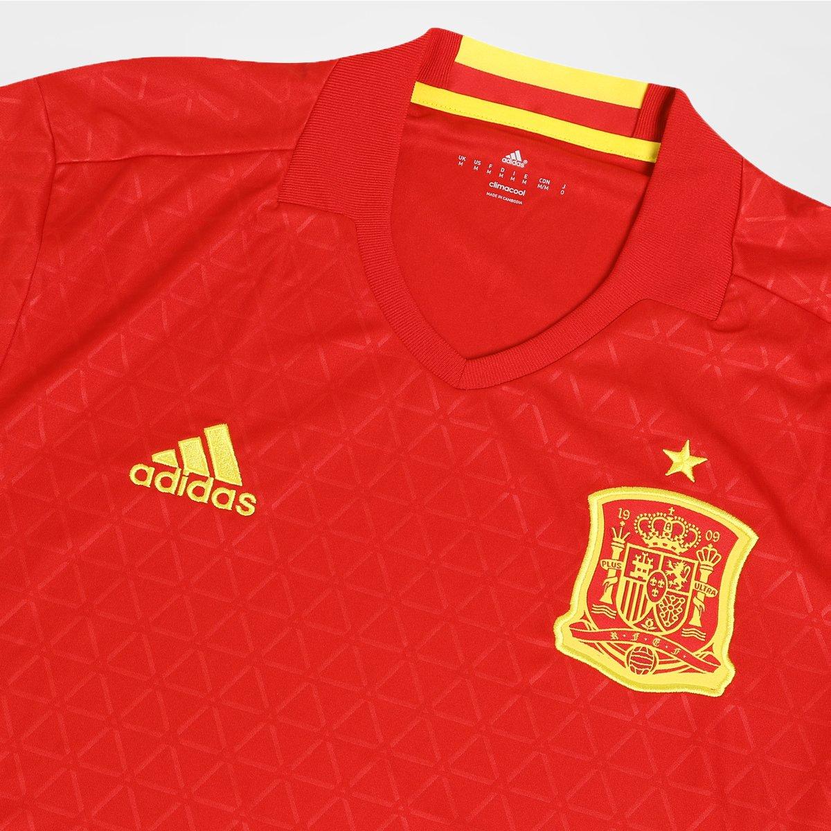 cc000c9603 Camisa Seleção Espanha Home 2016 s nº Torcedor Adidas Masculina ...