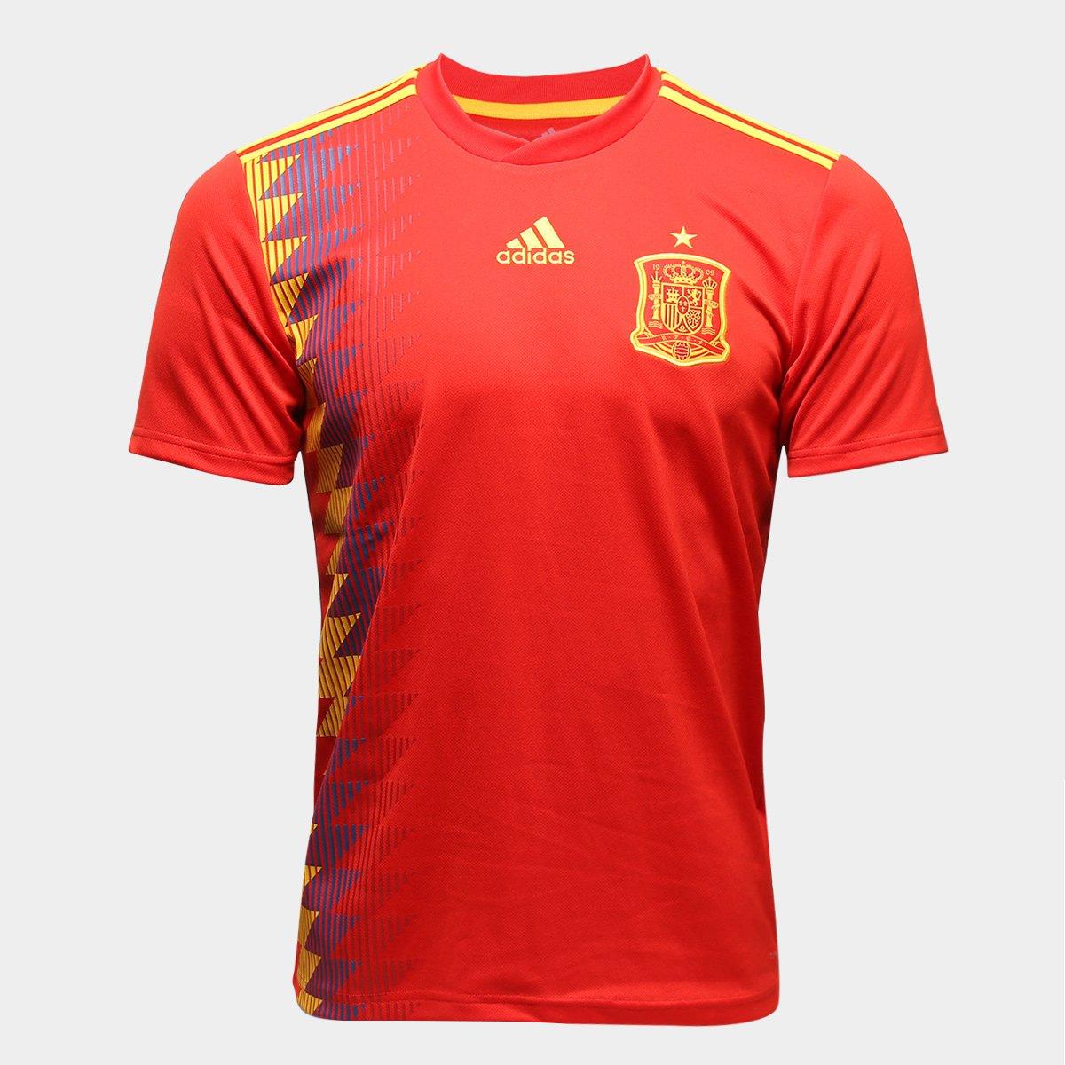 ... Camisa Seleção Espanha Home 2018 n° 19 Diego Costa - Torcedor Adidas  Masculina ... 0cab17f13c55c