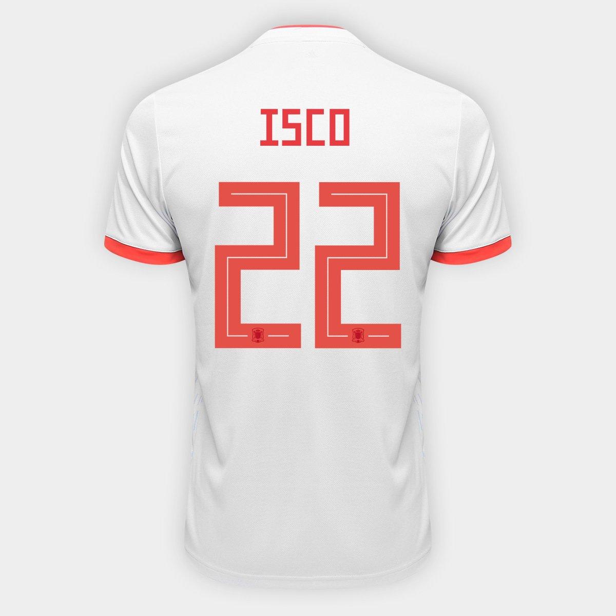 ... Camisa Seleção Espanha Home 2018 n° 22 Isco - Torcedor Adidas Masculina  . 4ec5e6e5aa1e9