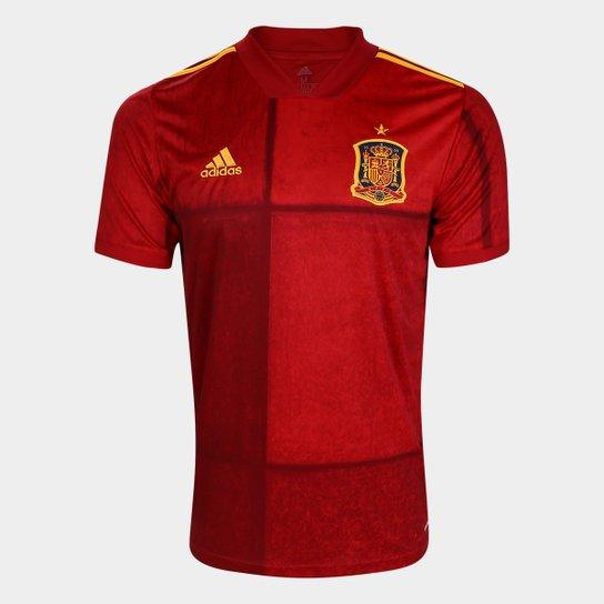 Camisa Seleção Espanha Home 20/21 s/nº Torcedor Adidas Masculina - Vermelho