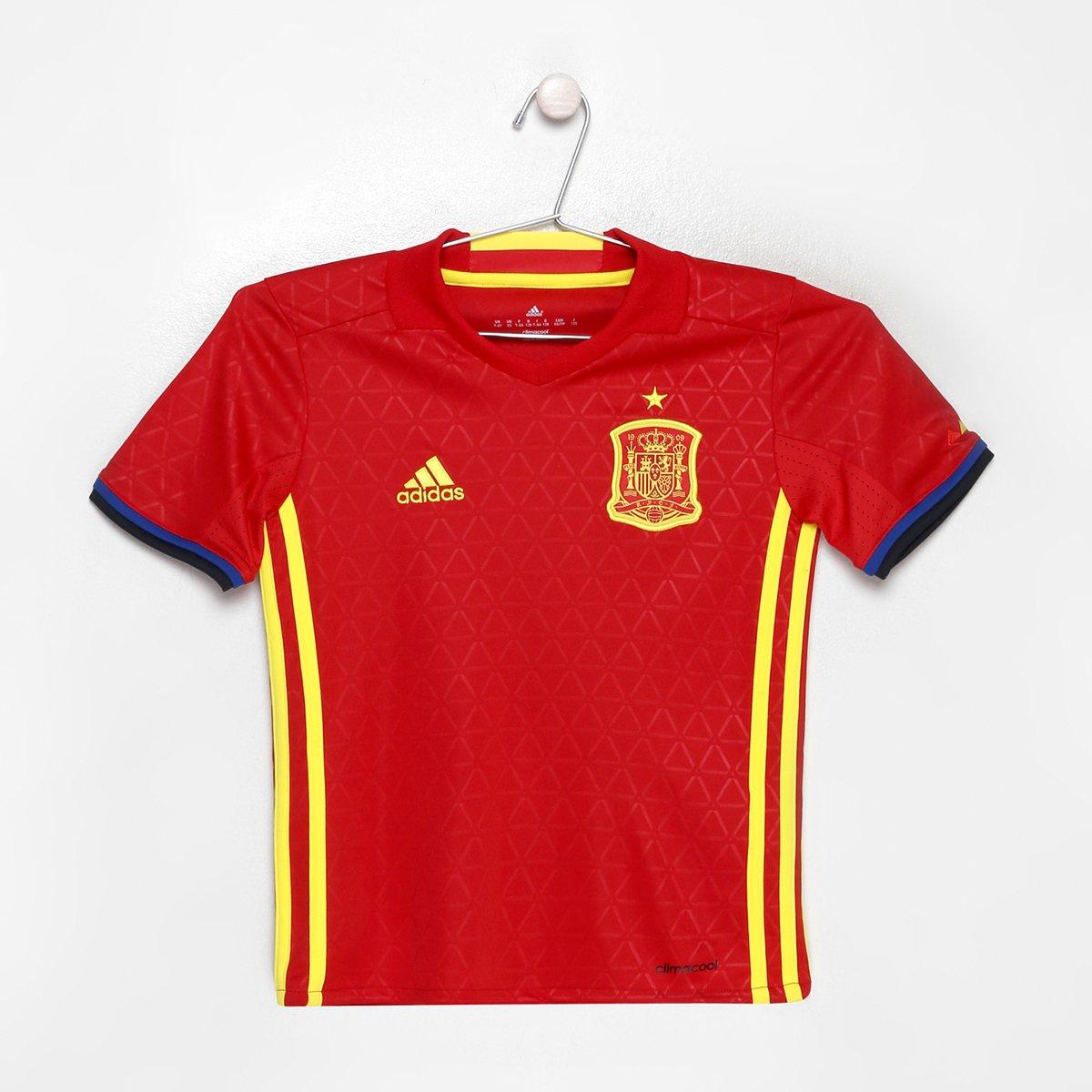 8795fb189e Camisa Seleção Espanha Infantil Home 2016 s nº Adidas - Compre Agora ...