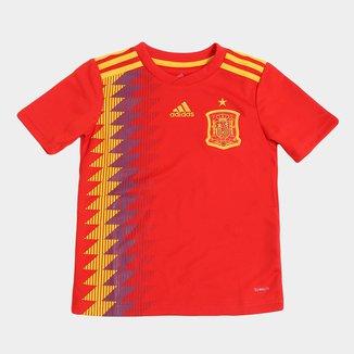 Camisa Seleção Espanha Infantil Home 2018 s/n° Torcedor Adidas