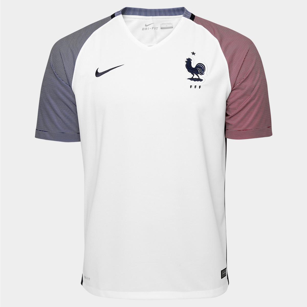 f1b111b35f Camisa Seleção França Away 2016 s nº Torcedor Nike Masculina - Compre Agora