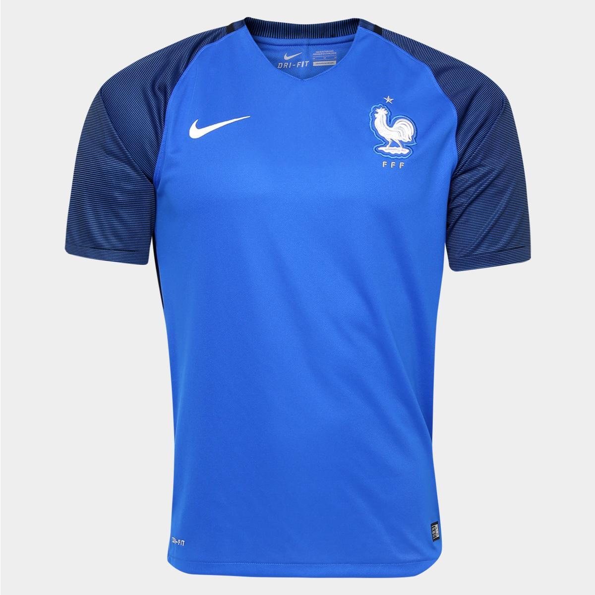 Camisa Seleção França Home 2016 s nº Torcedor Nike Masculina - Compre Agora   e8b2fa28ae8f2
