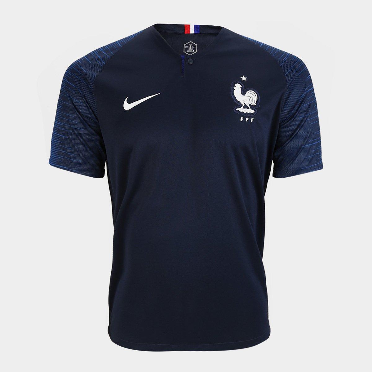 d5dccba1ff ... Camisa Seleção França Home 2018 n° 6 Pogba - Torcedor Nike Masculina ...