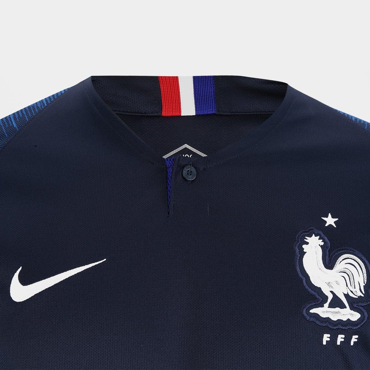 ... Camisa Seleção França Home 2018 s n° Torcedor Nike Masculina ... a2227d7f34b91