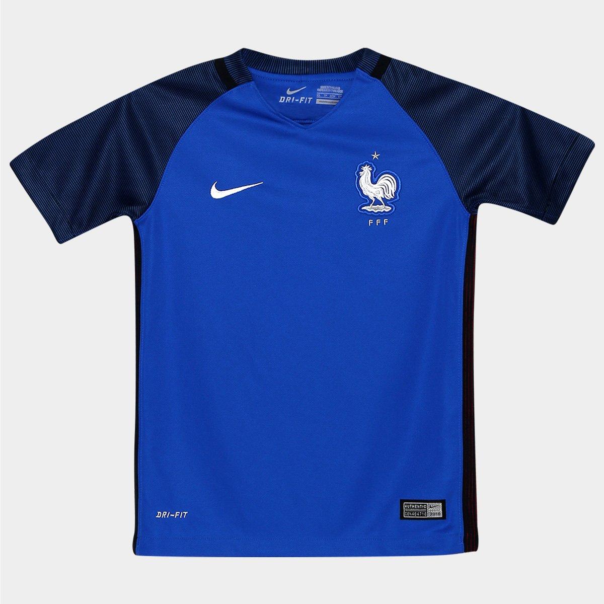 5929334ecd5c3 Camisa Seleção França Infantil Home 2016 s nº Torcedor Nike - Compre Agora