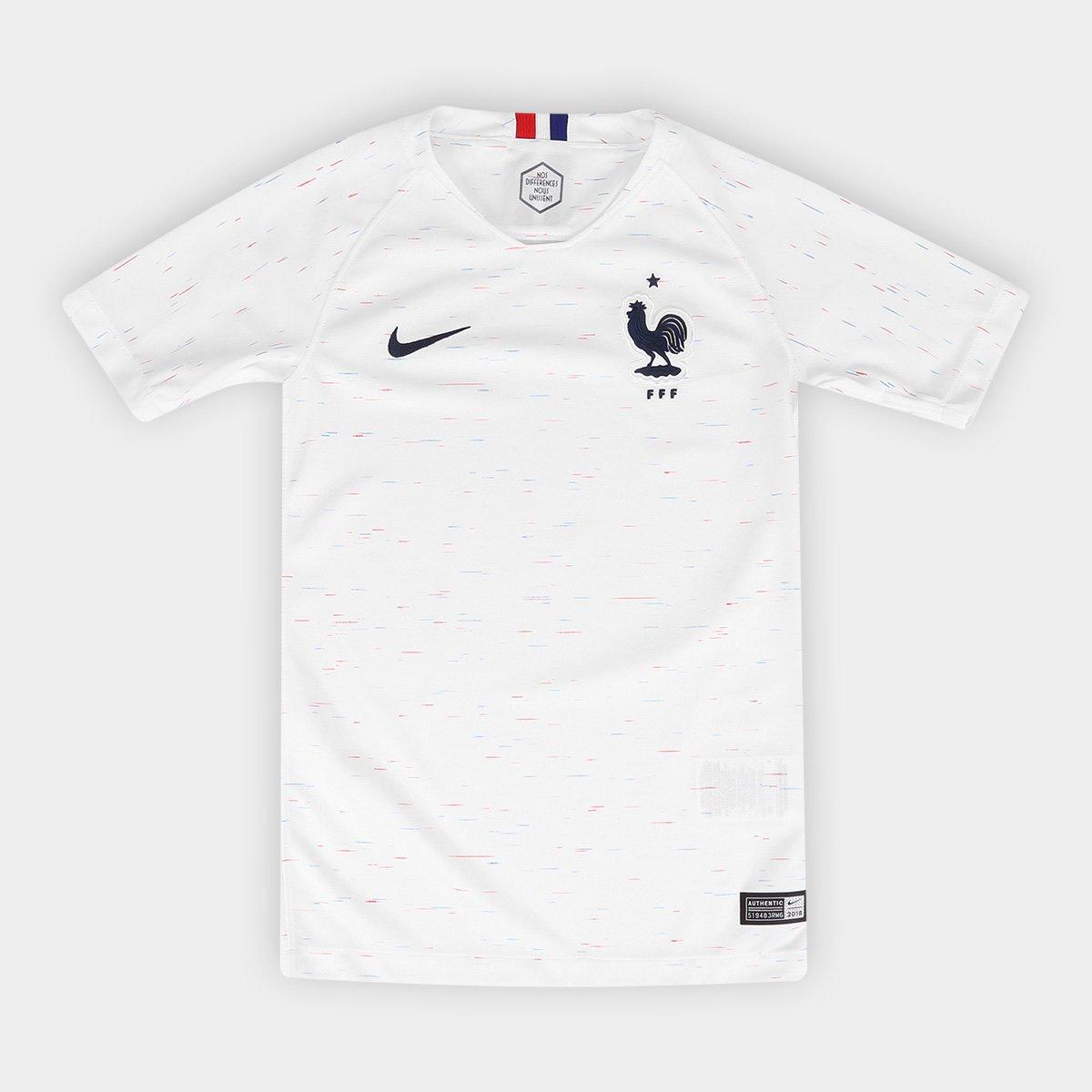 Camisa Seleção França Juvenil Away 2018 s n° - Torcedor Nike ... f5d0aec460
