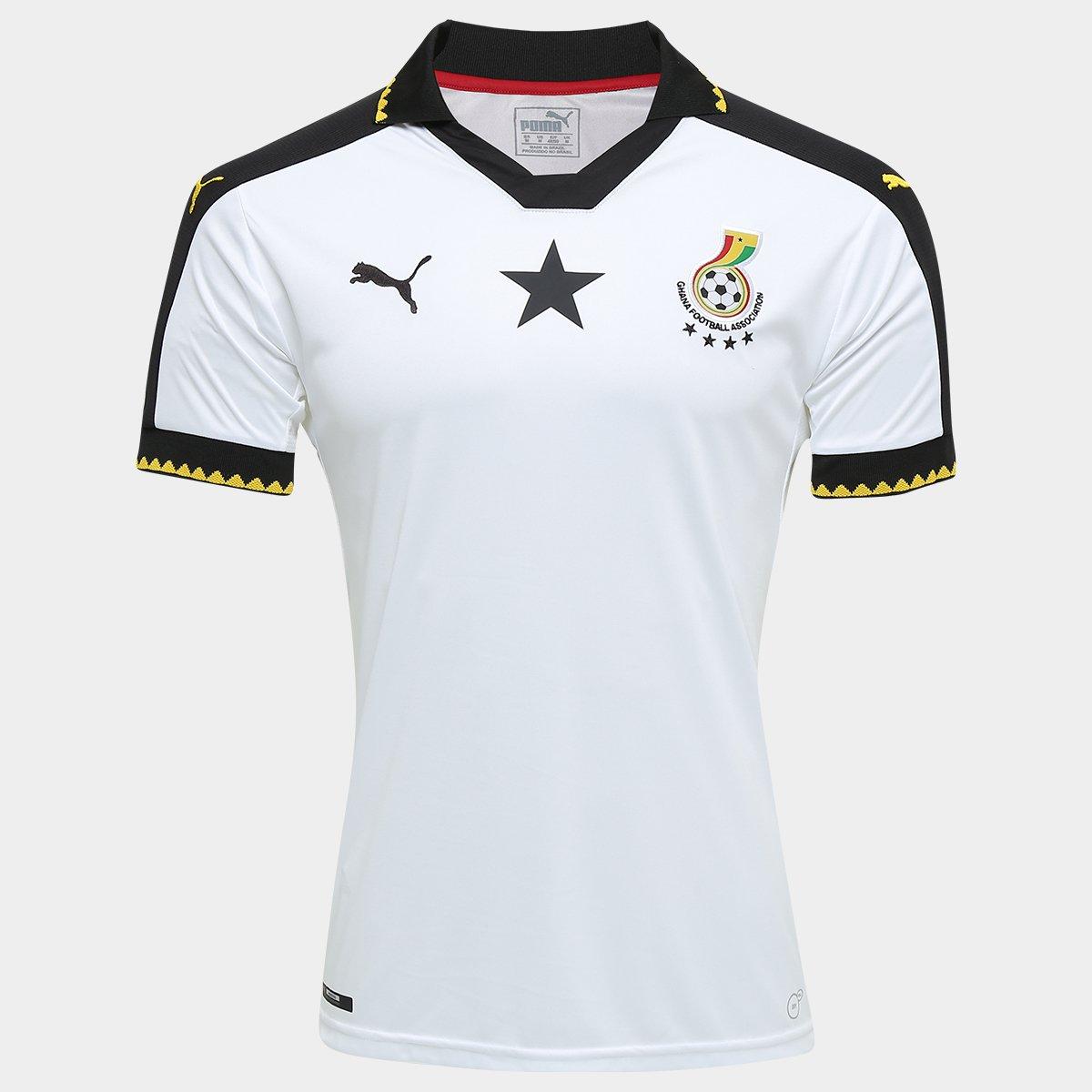 Camisa Seleção Gana Home 16 17 s nº Torcedor Puma Masculina - Compre Agora   5554f2648692d