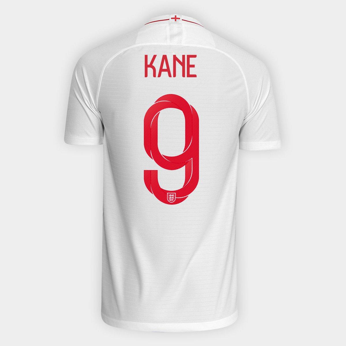 34dd1fc53e949 Camisa Seleção Inglaterra Home 2018 n° 9 Kane - Torcedor Nike Masculina -  Compre Agora