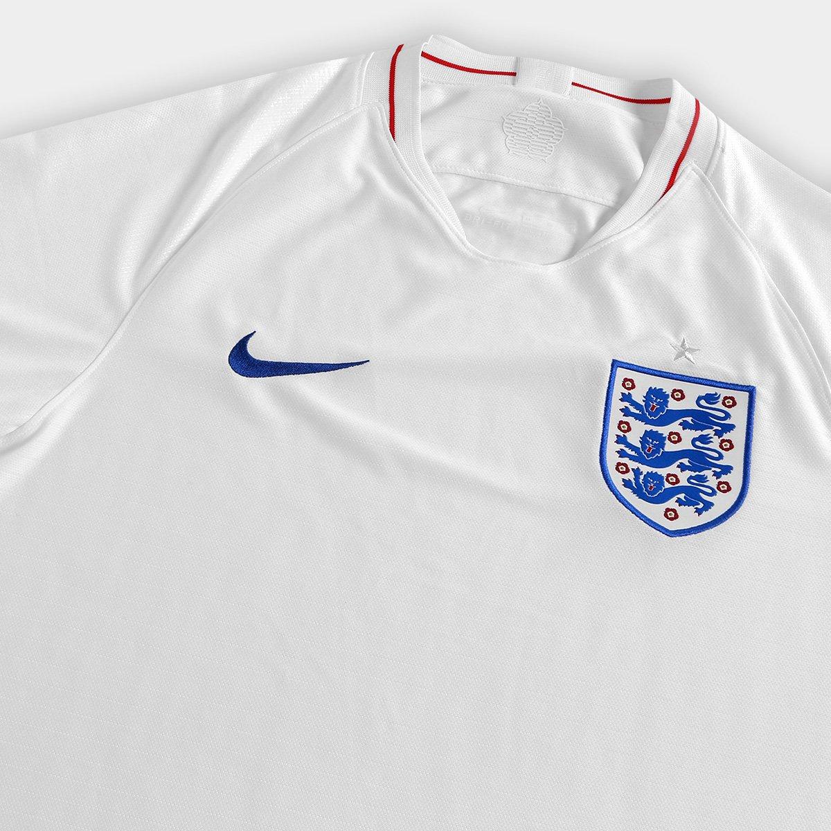1d3156fdc3 Camisa Seleção Inglaterra Home 2018 s n° Torcedor Nike Masculina ...