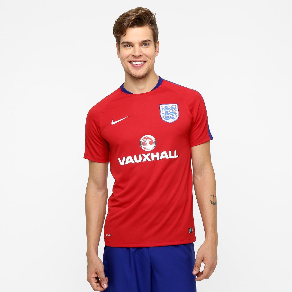 a6de8009b3f38 Camisa Seleção Inglaterra Treino 2016 - Torcedor Nike Masculina - Compre  Agora
