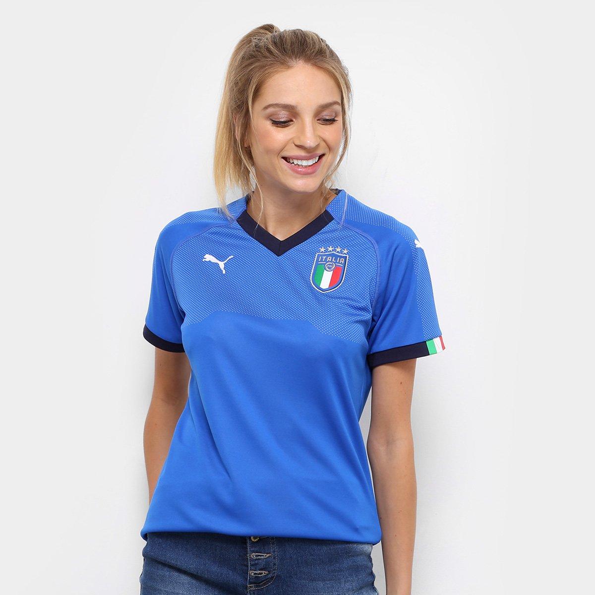657bff2b12 Camisa Seleção Itália Home 2018 s n° - Torcedor Puma Feminina - Compre  Agora