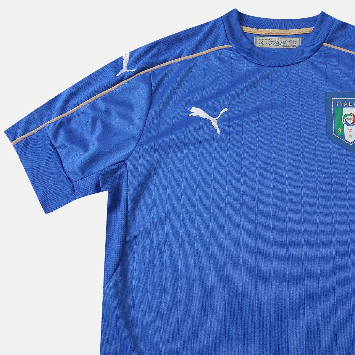 Camisa Seleção Itália Home s nº 2016 Torcedor Puma Masculina ... 42a6b47d48b2a