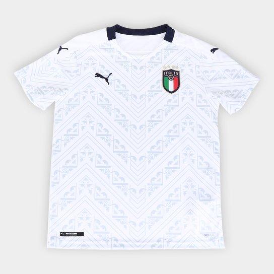 Camisa Seleção Itália Infantil Away 20/21 s/nº Torcedor Puma - Branco+Marinho