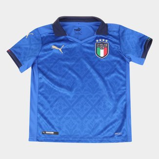 Camisa Seleção Itália Juvenil Home 20/21 s/n° Torcedor Puma