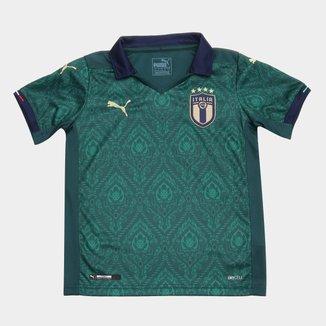 Camisa Seleção Itália Third Infantil 19/20 s/nº Torcedor Puma